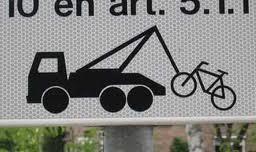 pechhulp fiets bord