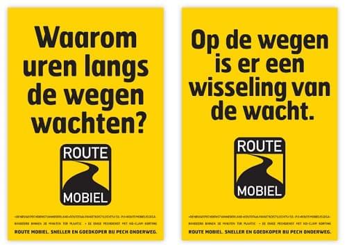 Route Mobiel stopt